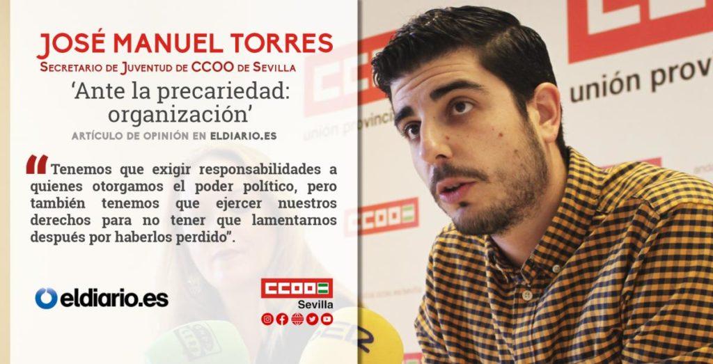 El secretario de Juventud de CCOO de Sevilla, José Manuel Torres.